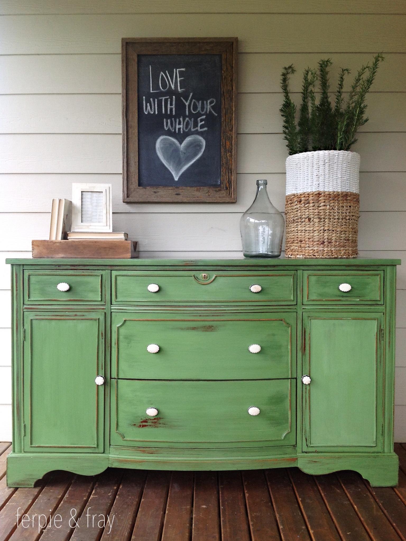Before And After Green Sideboard Ferpie And Fray