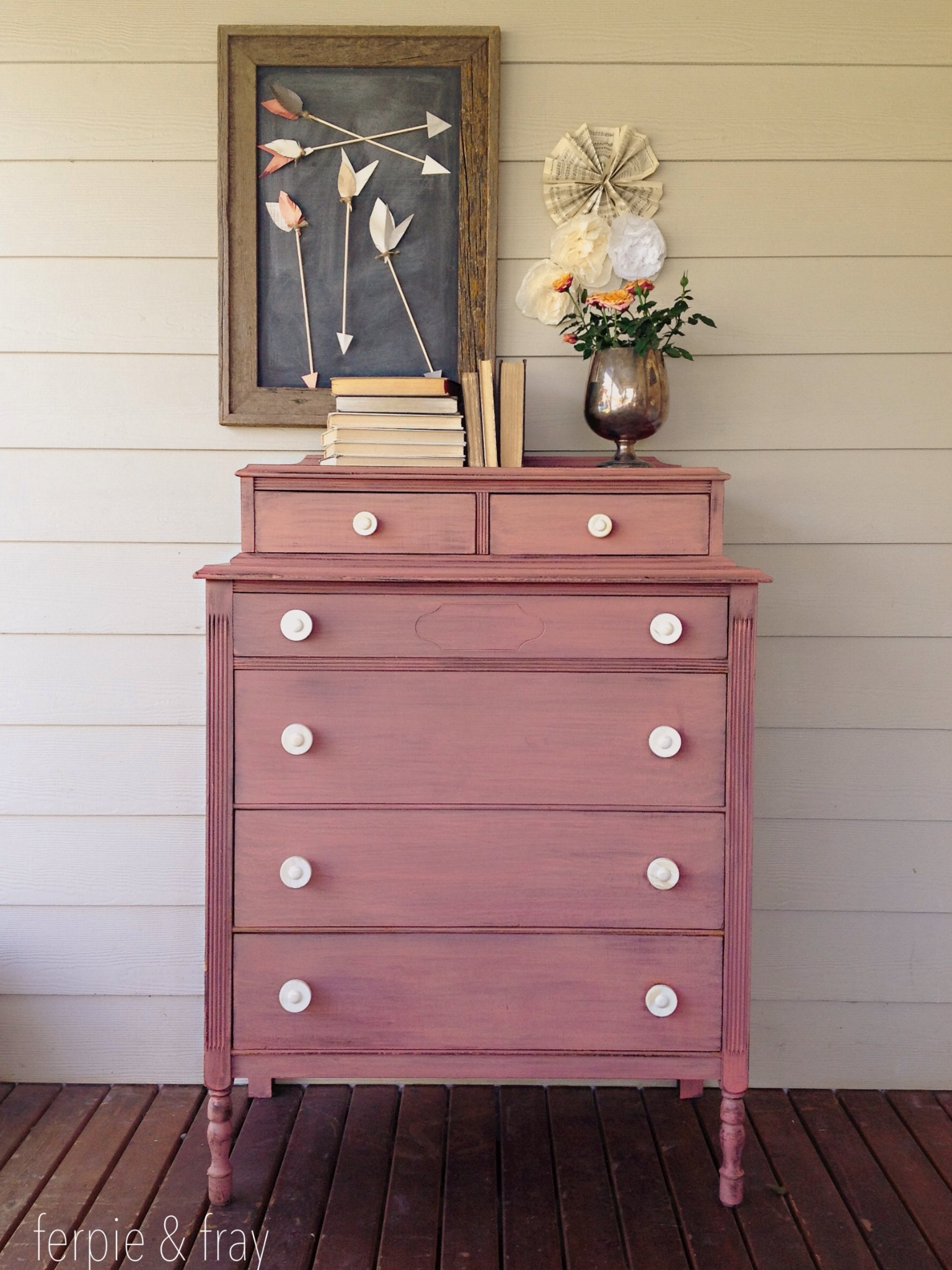 1000 Images About Pink & Amp Coral Painted Furniture On
